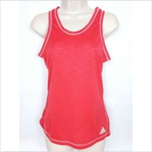 Adidas Women's Climalite Tank Top Small Solid Red